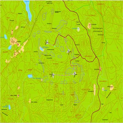Ramströms projektområdet karta